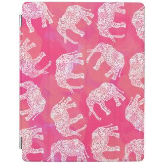 Capa Smart Para iPad teste padrão floral tribal colorido cor-de-rosa