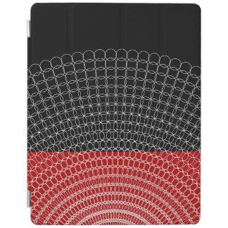 Capa Smart Para iPad Teste padrão geométrico do planeta vermelho