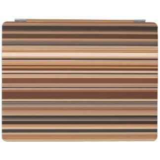 Capa Smart Para iPad Teste padrão listrado de Brown