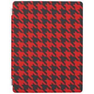 Capa Smart Para iPad Teste padrão vermelho e preto de Houndstooth