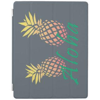 """Capa Smart Para iPad texto tropical do verão """"aloha"""", abacaxi colorido"""