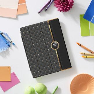 Capa Smart Para iPad Textura e teste padrão pretos elegantes do ouro -