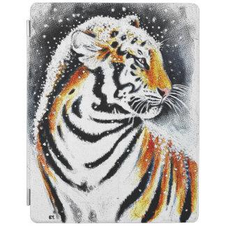 Capa Smart Para iPad Tigre na neve noir