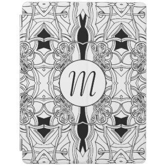 Capa Smart Para iPad Trabalhos de arte preto e branco modernos com