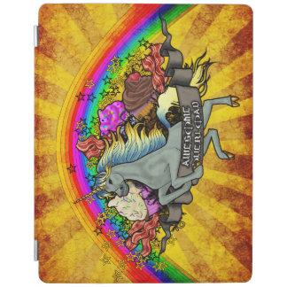 Capa Smart Para iPad Unicórnio, arco-íris & bacon impressionantes da