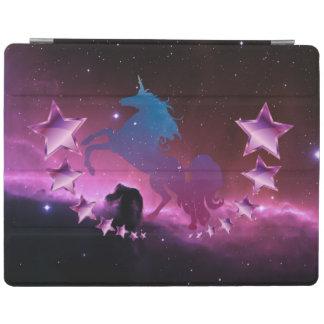 Capa Smart Para iPad Unicórnio com estrelas