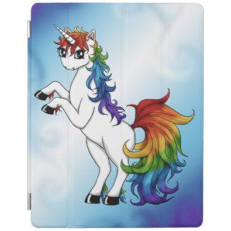 Capa Smart Para iPad Unicórnio do arco-íris