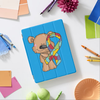 Capa Smart Para iPad Urso da consciência do autismo