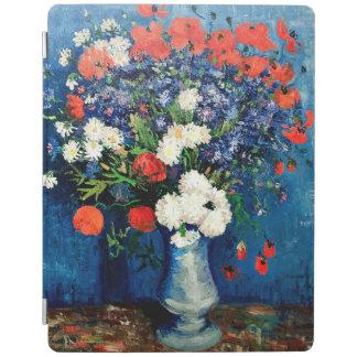 Capa Smart Para iPad Van Gogh - vaso com Cornflowers e papoilas