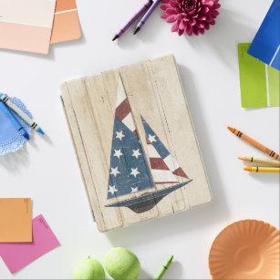 Capa Smart Para iPad Veleiro com bandeira americana