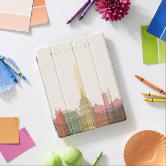 Capa Smart Para iPad Washington, skyline da cidade da C.C. |