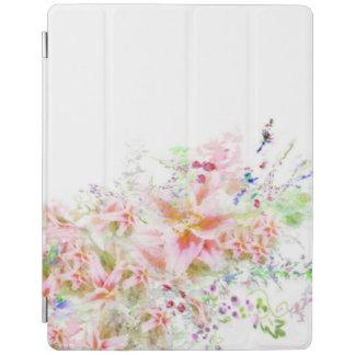 Capa Smart Para iPad Watercolour floral do jardim eu acolchôo o caso