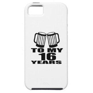 Capa Tough Para iPhone 5 16 elogios a meu aniversário