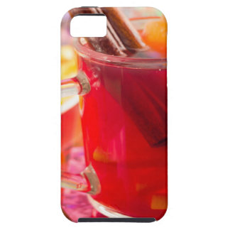 Capa Tough Para iPhone 5 A caneca transparente com citrino mulled o vinho,