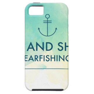 Capa Tough Para iPhone 5 A elevação e brilha-o é tempo de Spearfishing