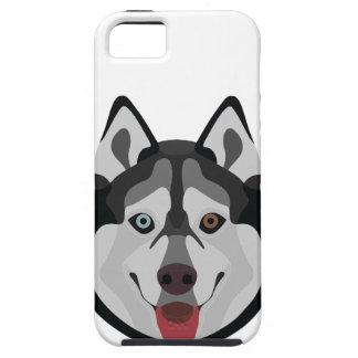 Capa Tough Para iPhone 5 A ilustração persegue o rouco Siberian da cara