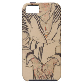 Capa Tough Para iPhone 5 A irmã do artista de Egon Schiele- na lei