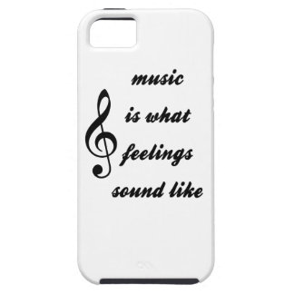 Capa Tough Para iPhone 5 A música é o que os sentimentos soam como