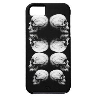 Capa Tough Para iPhone 5 A obscuridade avançada do perfil do crânio protege