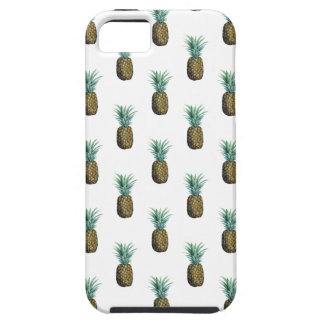 Capa Tough Para iPhone 5 Aguarela tropical do abacaxi