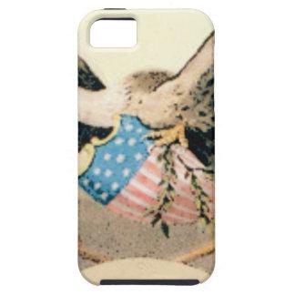 Capa Tough Para iPhone 5 águia e selo das bandeiras