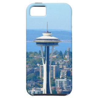 Capa Tough Para iPhone 5 Agulha do espaço da skyline de Seattle