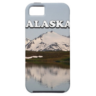 Capa Tough Para iPhone 5 Alaska: Reflexões do lago das montanhas
