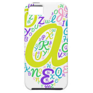 Capa Tough Para iPhone 5 alfabeto do amor