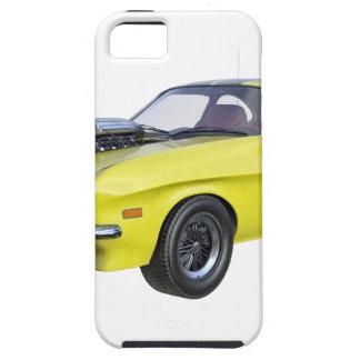 Capa Tough Para iPhone 5 Amarelo do carro de 1970 músculos com listra preta