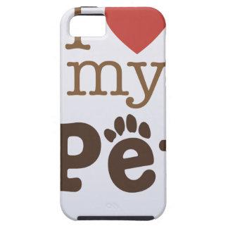 Capa Tough Para iPhone 5 Ame seu dia do animal de estimação - dia da