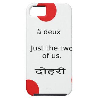 Capa Tough Para iPhone 5 Amor e romance: Os apenas o dois de nós