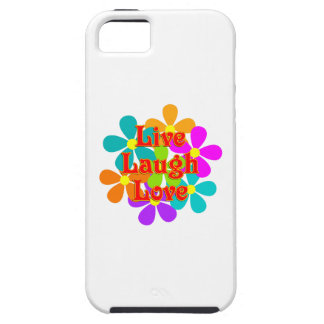 Capa Tough Para iPhone 5 Amor vivo do riso do divertimento