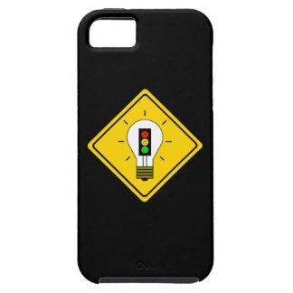 Capa Tough Para iPhone 5 Ampola temperamental do sinal de trânsito adiante