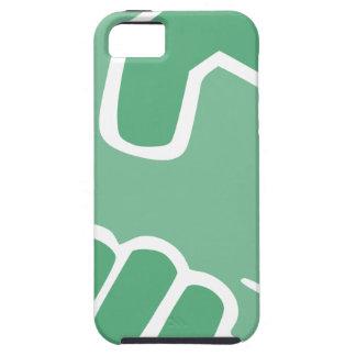 Capa Tough Para iPhone 5 Aperto de mão verde