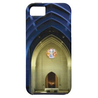 Capa Tough Para iPhone 5 Arcos na igreja azul