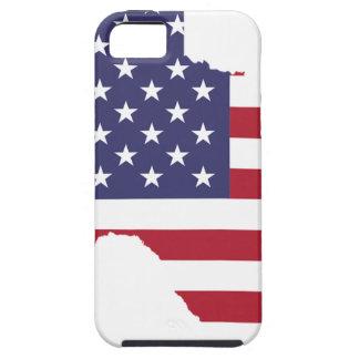Capa Tough Para iPhone 5 Arte abstrata Texas de América