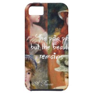 Capa Tough Para iPhone 5 Arte, beleza e amor em pinturas de Renoir