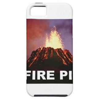 Capa Tough Para iPhone 5 arte do poço do fogo