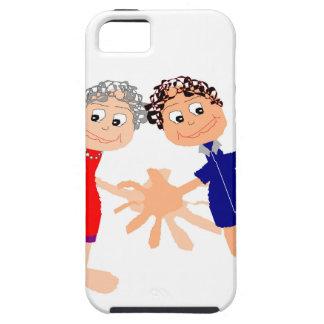 Capa Tough Para iPhone 5 Arte gráfica - dois amigos