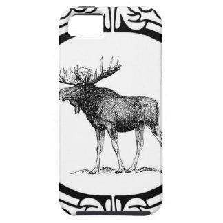 Capa Tough Para iPhone 5 arte grande dos alces do touro