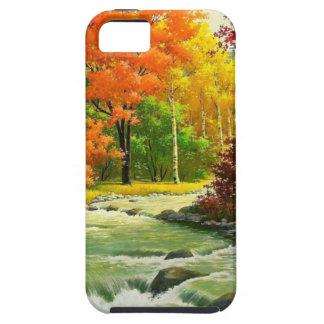 Capa Tough Para iPhone 5 Árvores do outono pelo rio