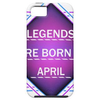 Capa Tough Para iPhone 5 As legendas são nascidas em abril