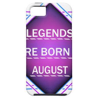 Capa Tough Para iPhone 5 As legendas são nascidas em agosto