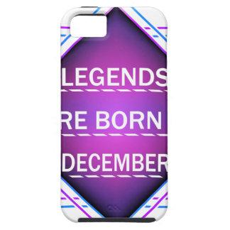 Capa Tough Para iPhone 5 As legendas são nascidas em dezembro