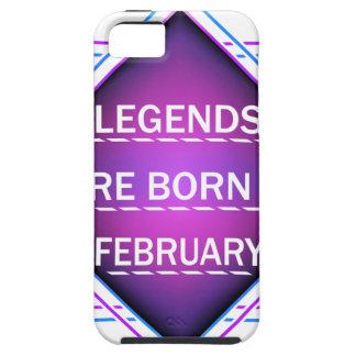 Capa Tough Para iPhone 5 As legendas são nascidas em fevereiro