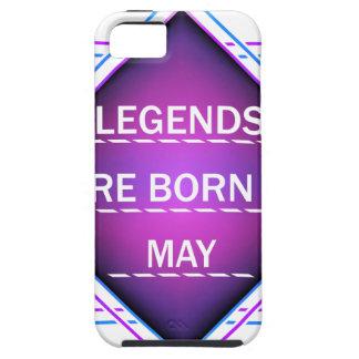 Capa Tough Para iPhone 5 As legendas são nascidas em maio
