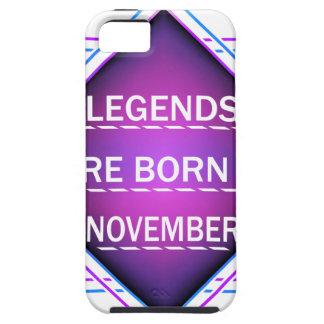 Capa Tough Para iPhone 5 As legendas são nascidas em novembro