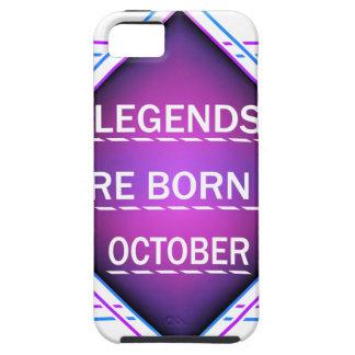 Capa Tough Para iPhone 5 As legendas são nascidas em outubro