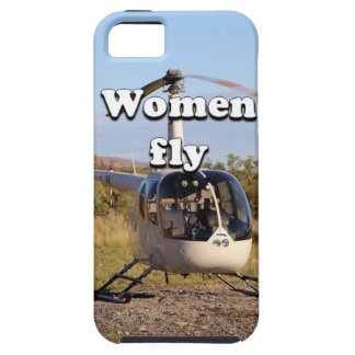Capa Tough Para iPhone 5 As mulheres voam: Helicóptero 2 (brancos)