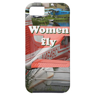 Capa Tough Para iPhone 5 As mulheres voam: plano 23 do flutuador, Alaska